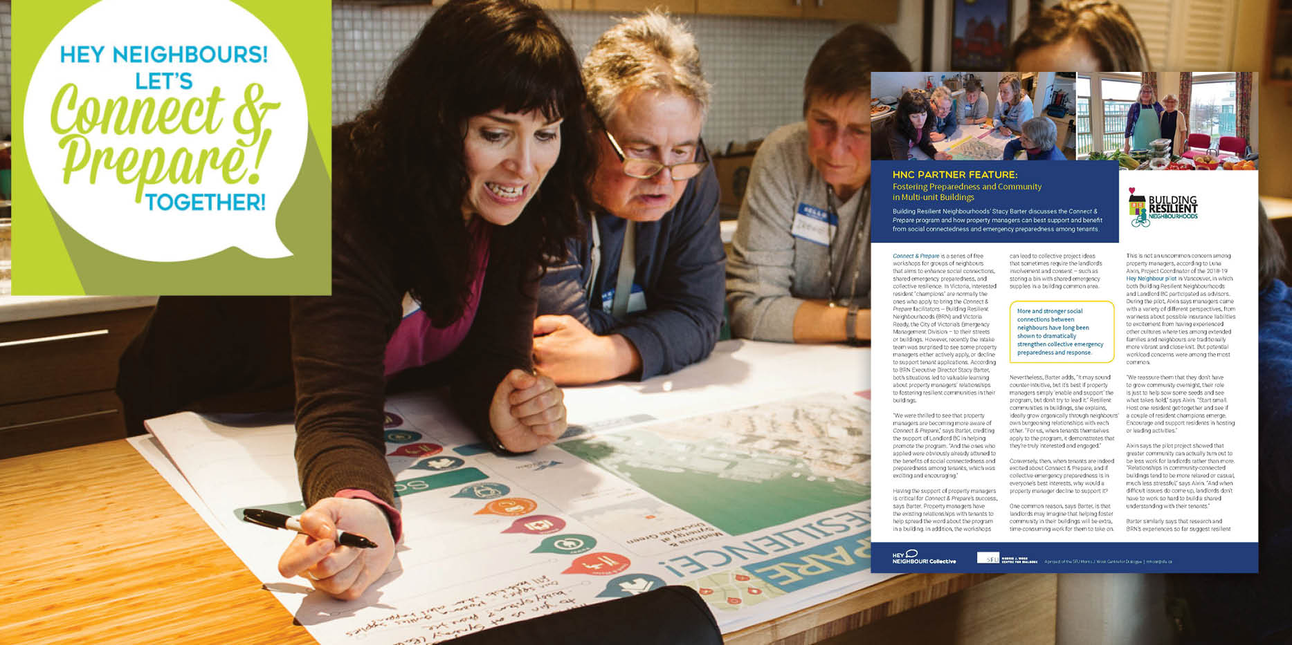 Connect and Prepare with Resilient Neighbourhoods
