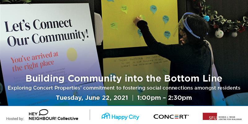 Building Community into the Bottom Line, webinar on eventbrite.